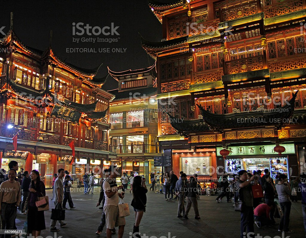 Old Town, Shanghai royalty-free stock photo