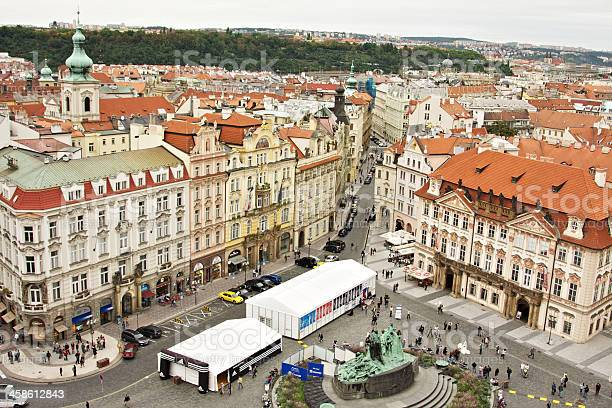 Old Town Square from above. Prague. Czech Republic.