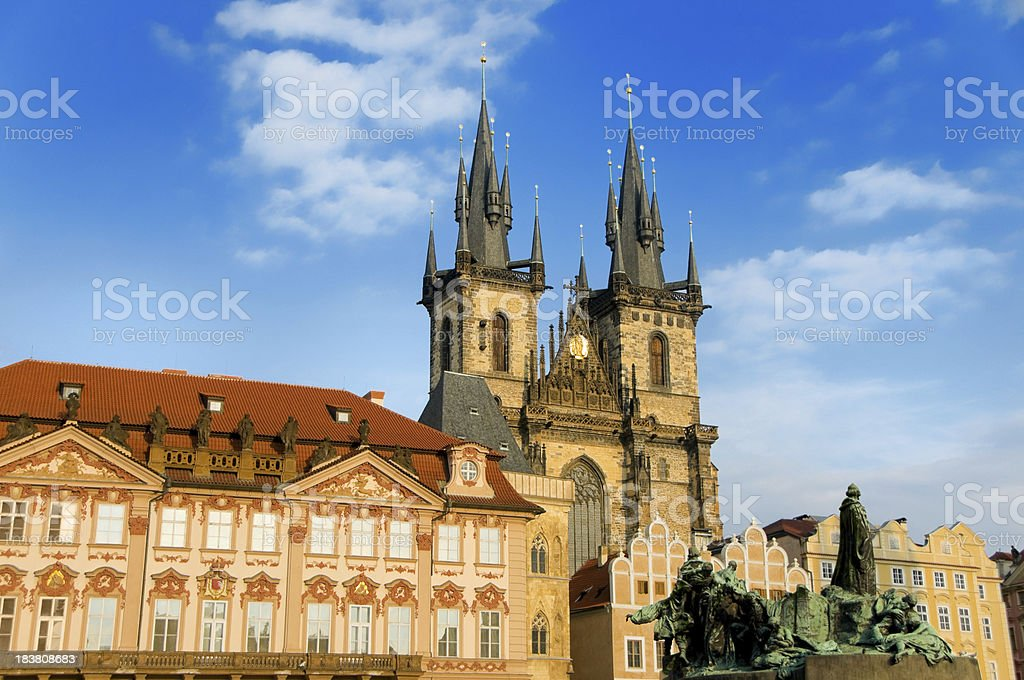 Old town square in Prague, Czech Republic royalty-free stock photo