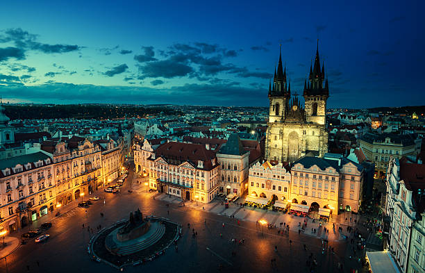 Old town square in Prague, Czech republic Old town square in Prague, Czech republic tyn church stock pictures, royalty-free photos & images