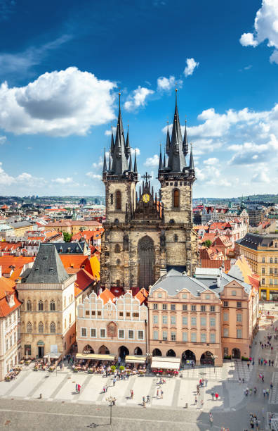 Old Town Square in Prague Old Town Square in Prague tyn church stock pictures, royalty-free photos & images
