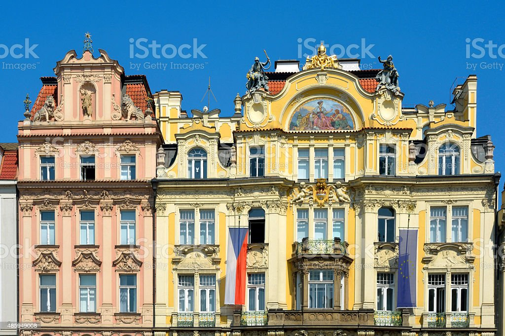Old Town Square of Prague - Czech Republic stock photo