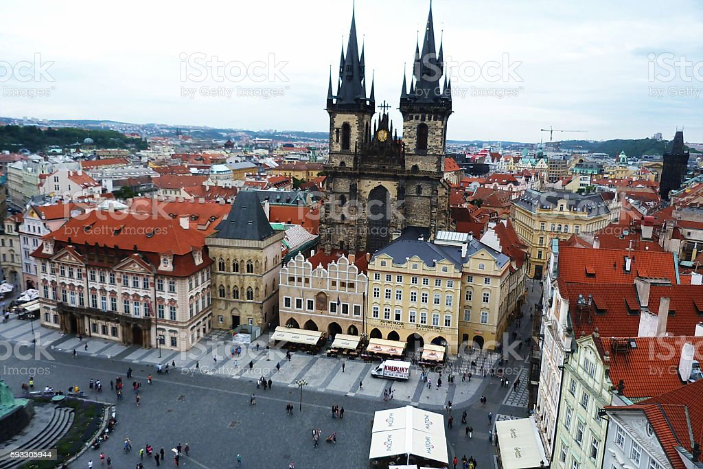 Old Town Square of Prague, Czech Republic stock photo