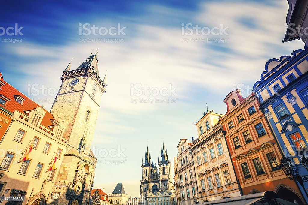 Old Town Square of Prague, Czech Republich royalty-free stock photo