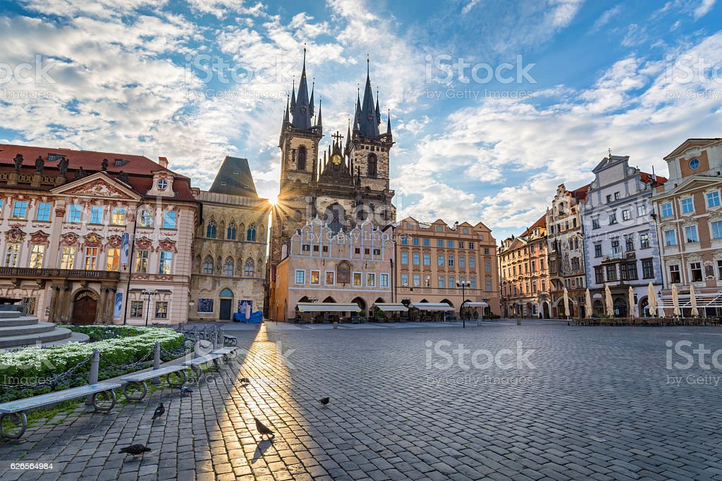 Old town square, Prague, Czech Republic stock photo