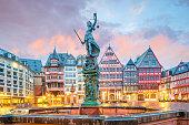 istock Old town square romerberg in Frankfurt, Germany 1151497055