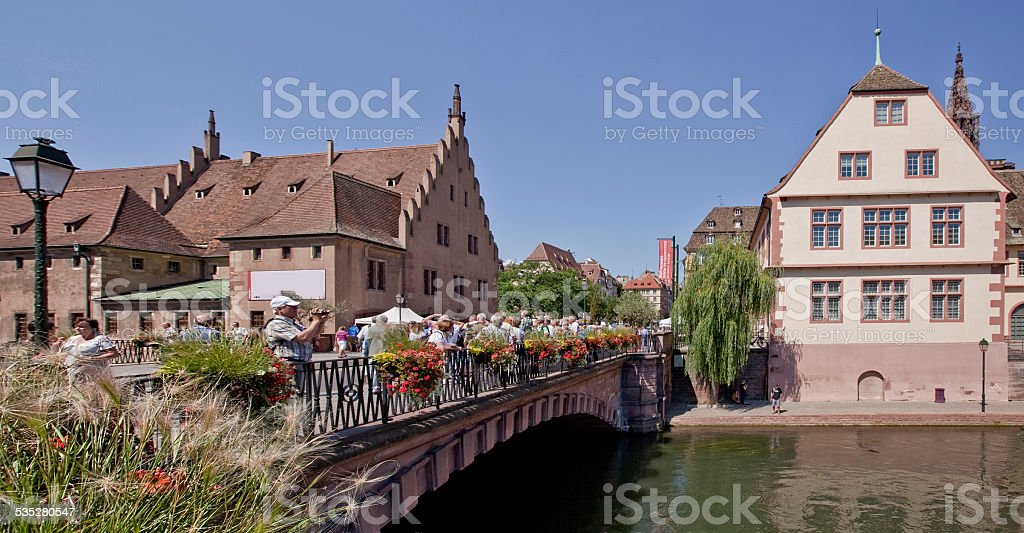 Old Town Strasbourg, France stock photo
