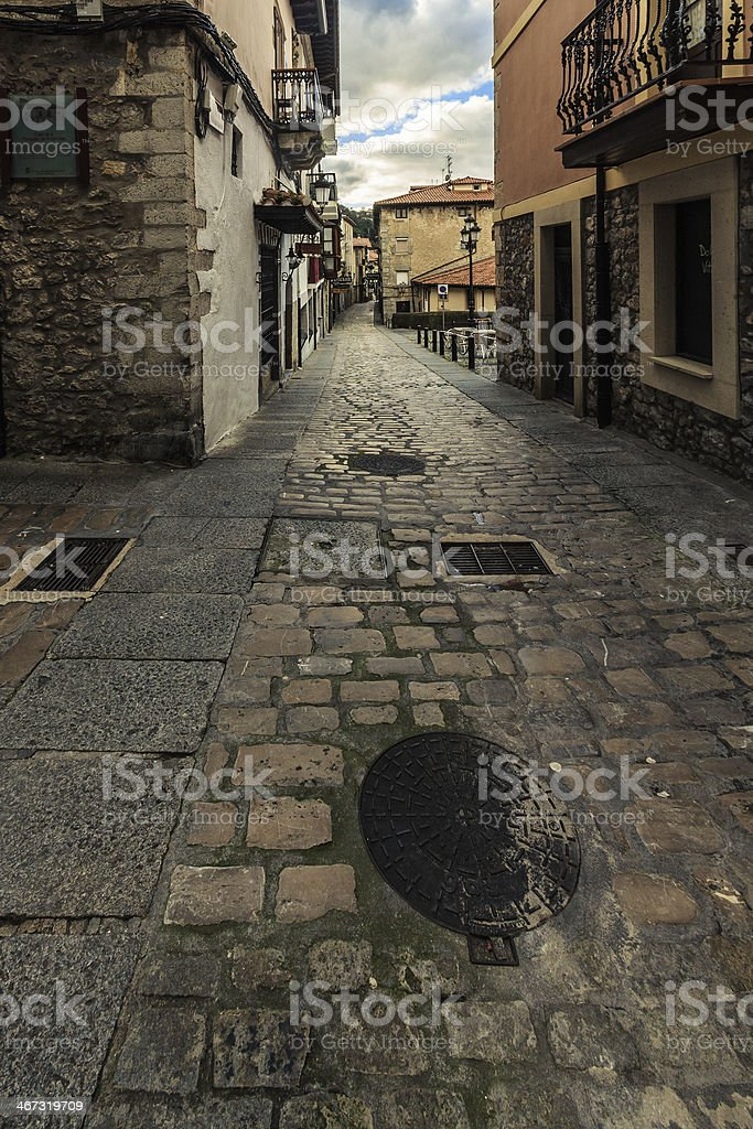 Old town street stock photo