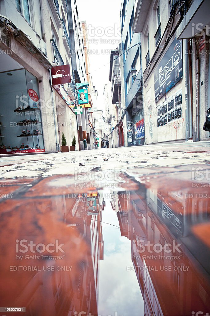 Old town streets. stock photo