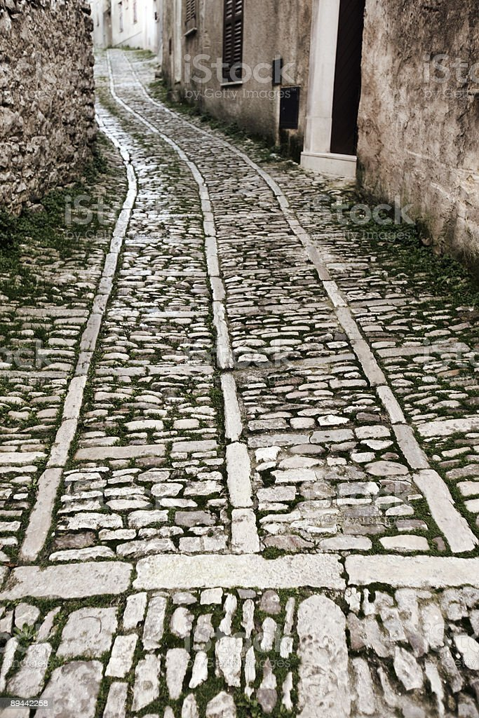 old town streets royalty-free stock photo