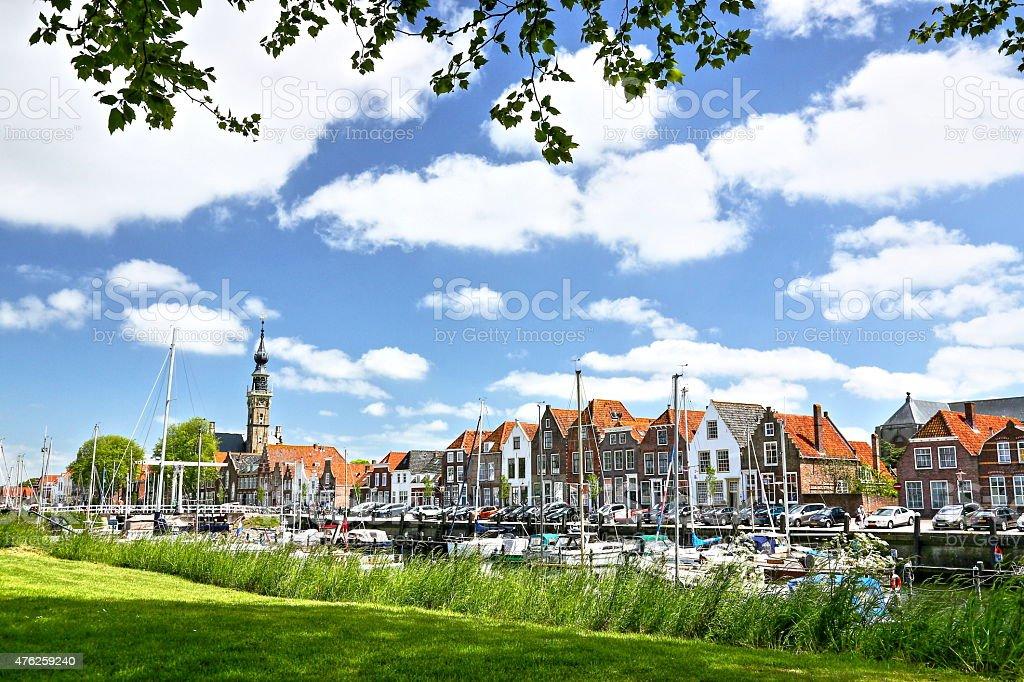 old town Veere in Zeeland (Walcheren, Netherlands) stock photo