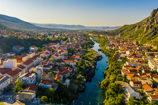 Old Town With River Mostar Bosnia And Herzegovina Stock Photo - Download Image Now