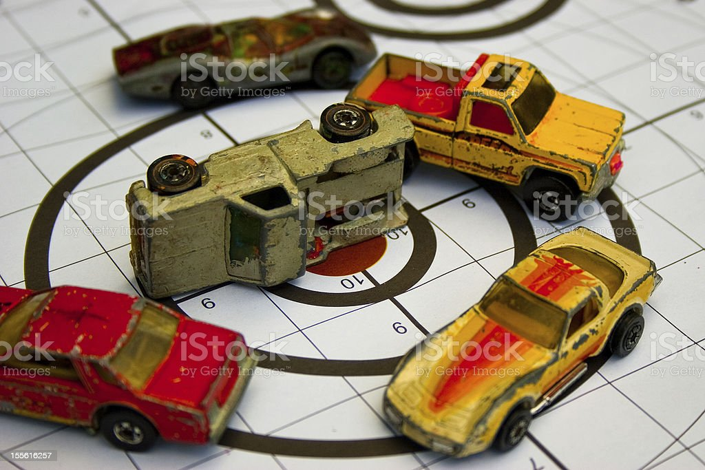 Old Toy Cars royalty-free stock photo