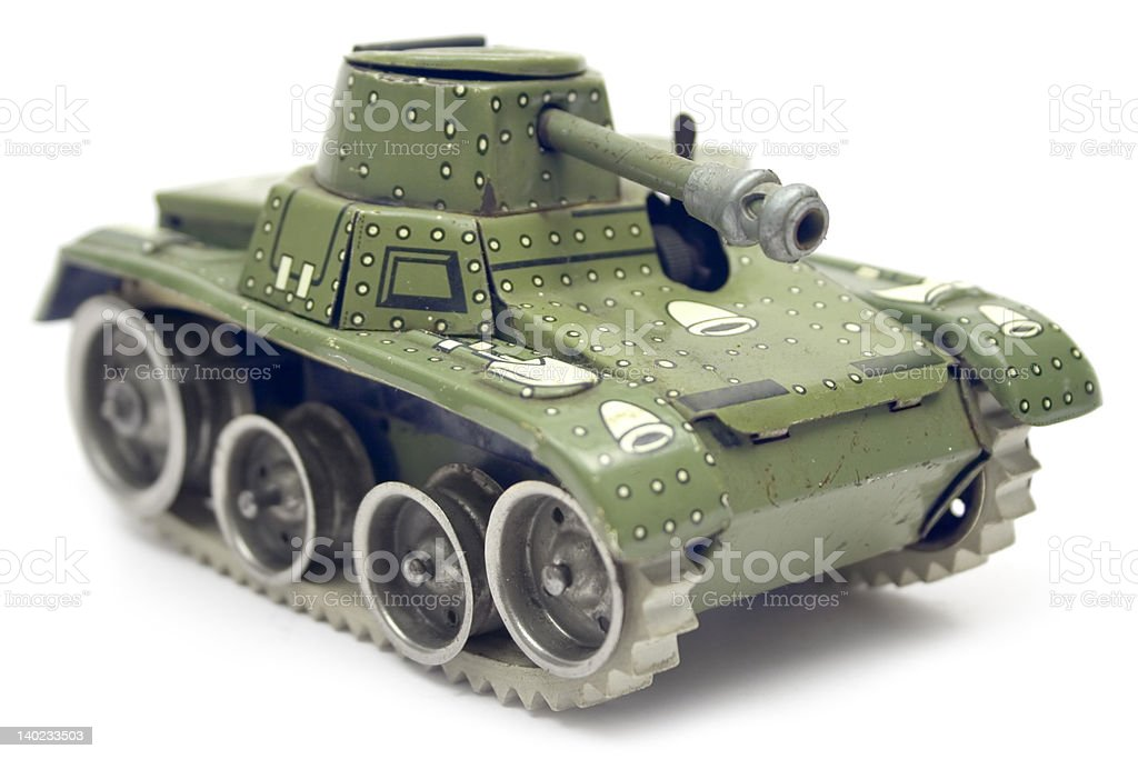 Old Toy Tank royalty-free stock photo