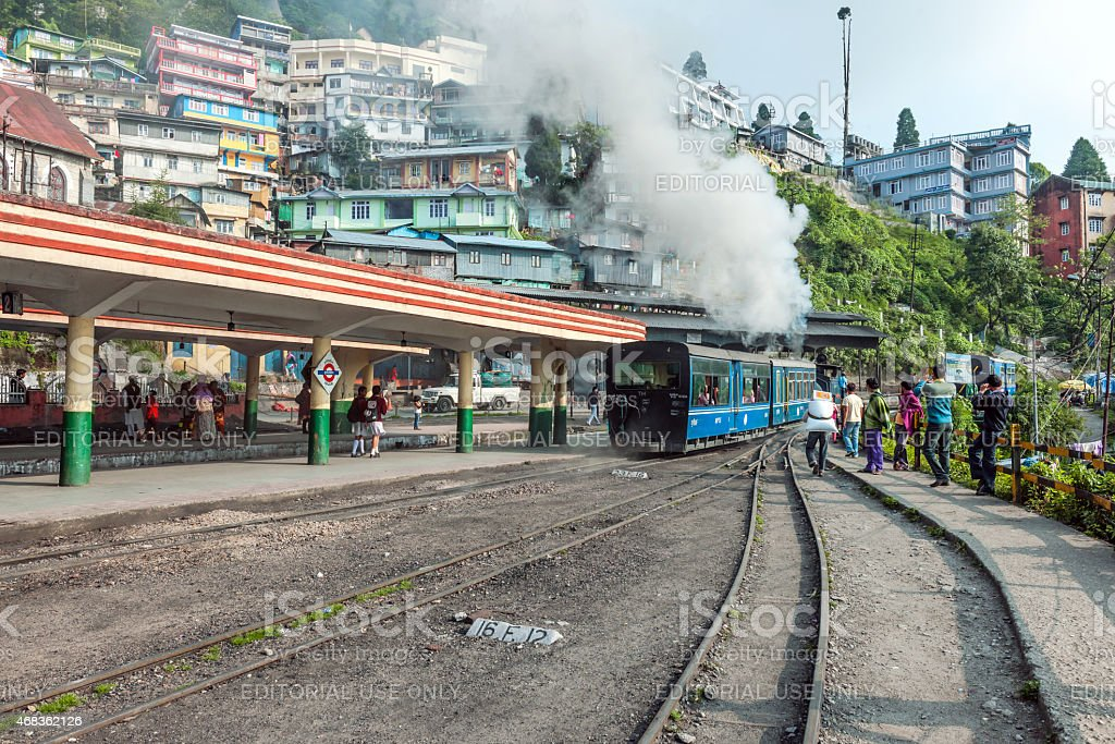 Old Toy Train in Darjeeling, West Bengal, North India royalty-free stock photo