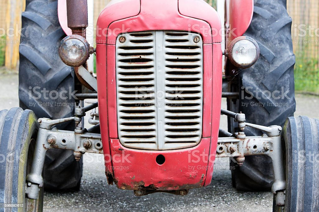 Old tractor face royalty-free stock photo