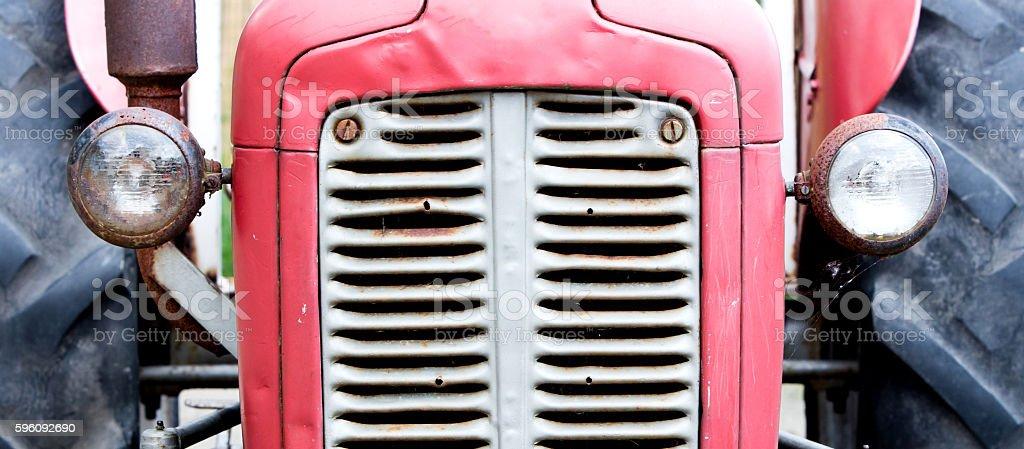 Old tractor face Lizenzfreies stock-foto