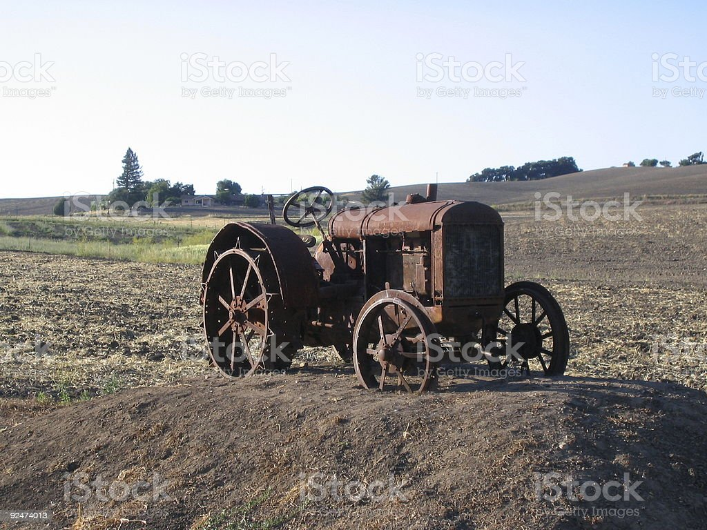 Old Tractor in a Field royalty-free stock photo
