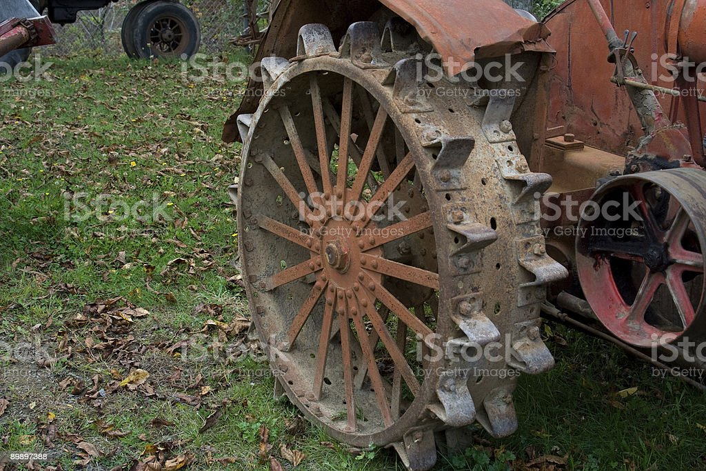 Old Tractor Wheel royalty-free stock photo