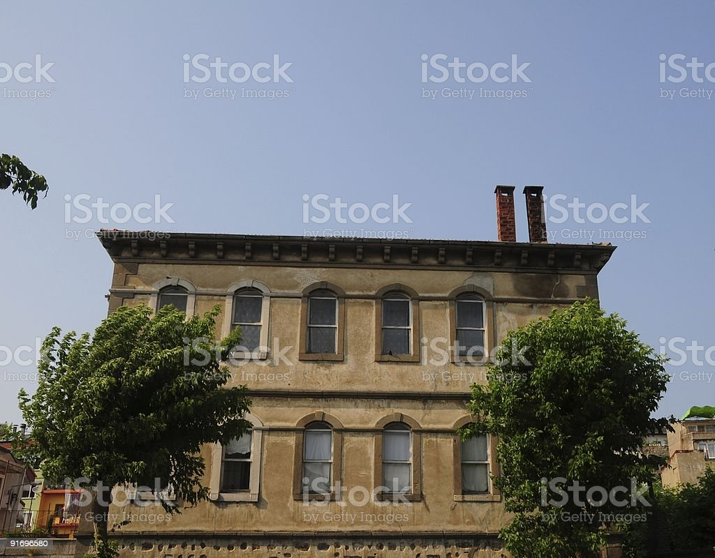 Old Traditional building at Amasra Turkey stok fotoğrafı