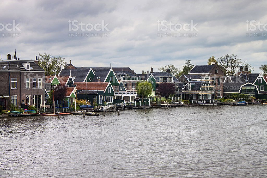 Old traditional houses at Zaanse Schans royalty-free stock photo