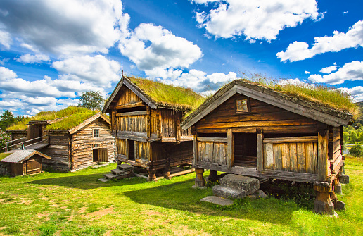 istock Old traditional Norwegian houses. Geilo, Norway. 820747494