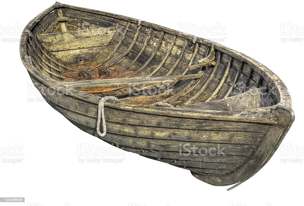 Old traditional rowboat. royalty-free stock photo
