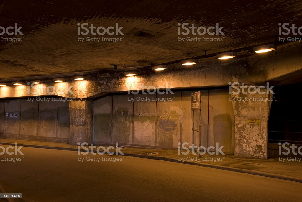 old traffic tunnel royalty-free stock photo