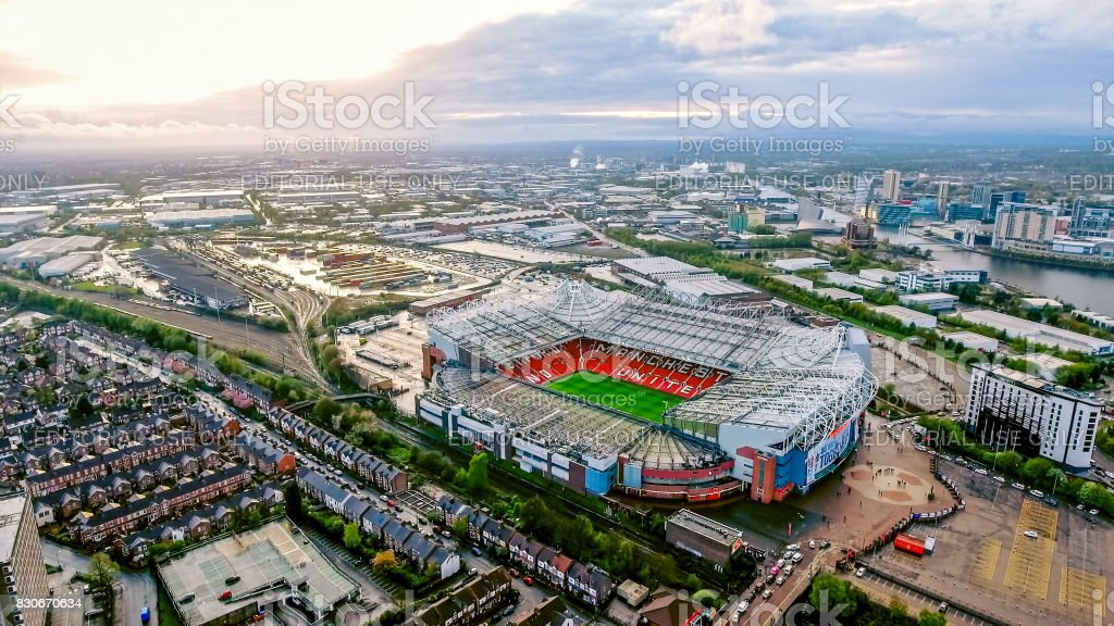 Old Trafford is a football stadium Greater Manchester England and the home of Manchester United stock photo