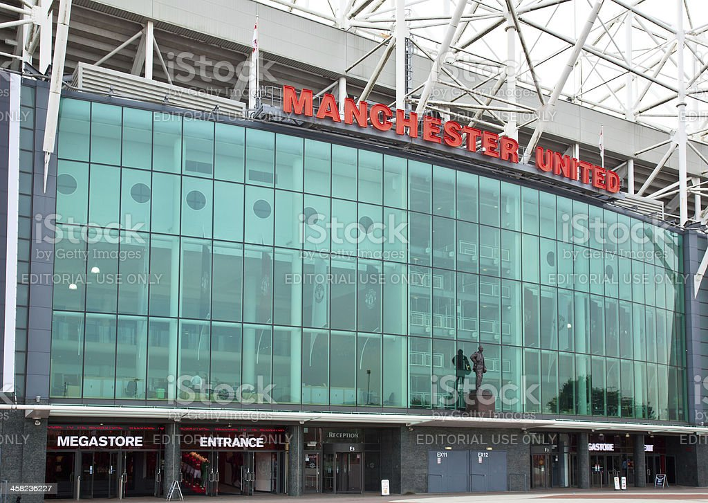 Old Trafford Stadium the home of Manchester United stock photo