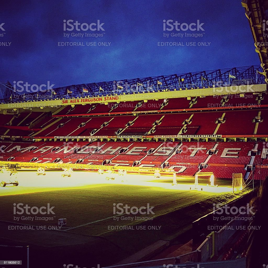 Old Trafford - The Theatre of Dreams stock photo