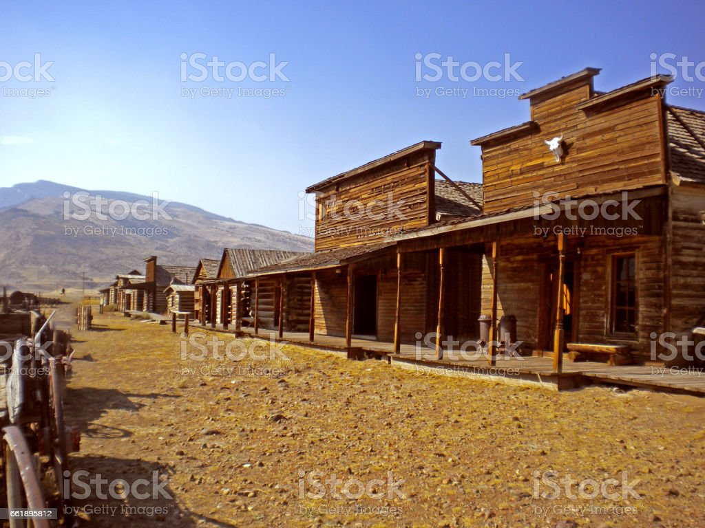 old trail town, cody, wyoming, usa stock photo