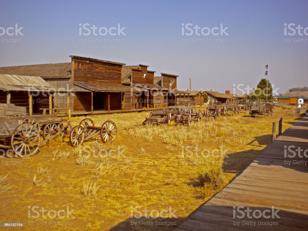 old trail town, cody, wyoming, usa foto stock royalty-free