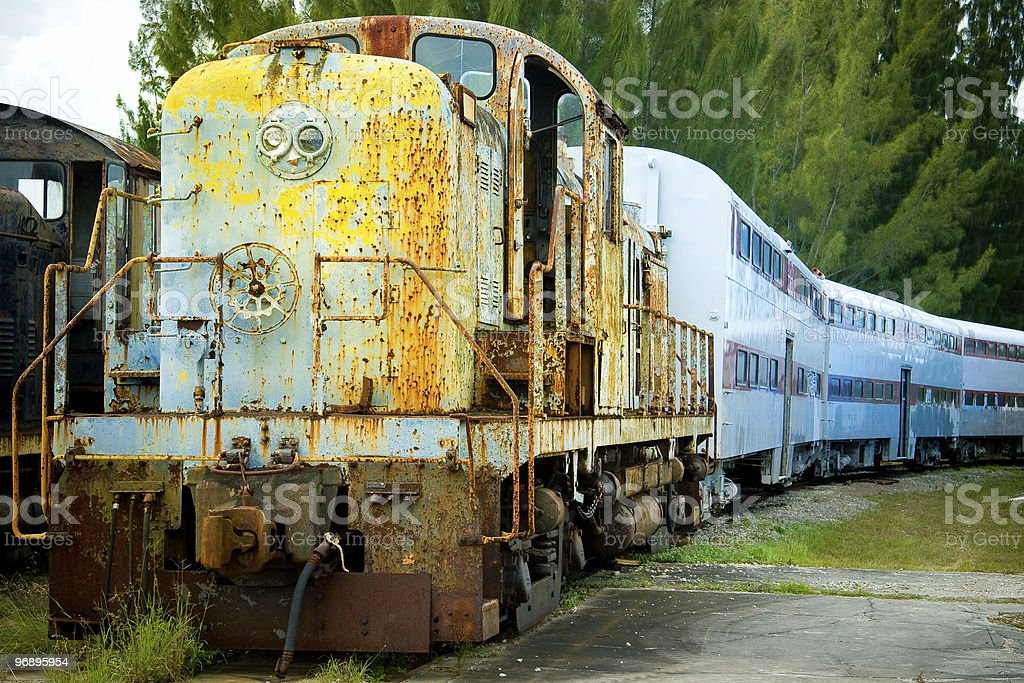 Old train and carriages royalty-free stock photo