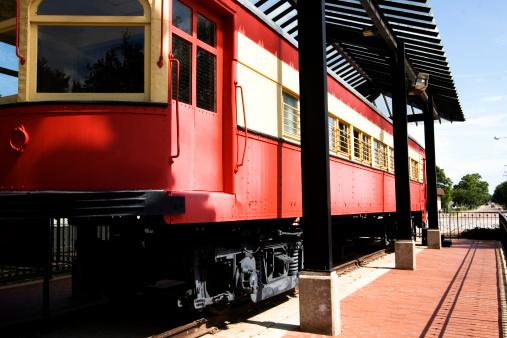 Old Train at Haggard Park in Plano, TX