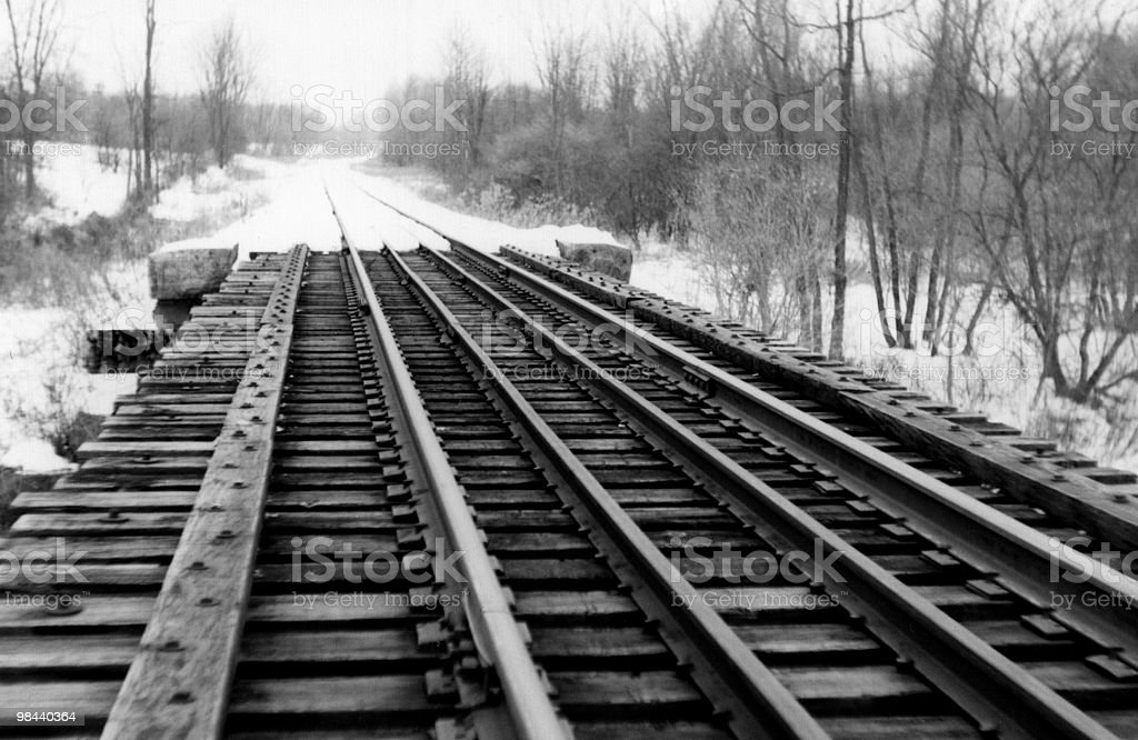 Old Train Bridge royalty-free stock photo