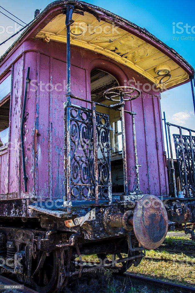 Velho trem de carruagem foto royalty-free