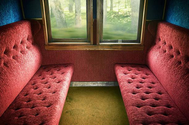 old train compartment - järnvägsvagn tåg bildbanksfoton och bilder