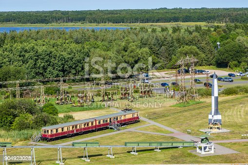 istock old train  in the starting area of V2 rockets during WW2 904923028