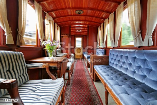 Old-fashioned first class railroad car