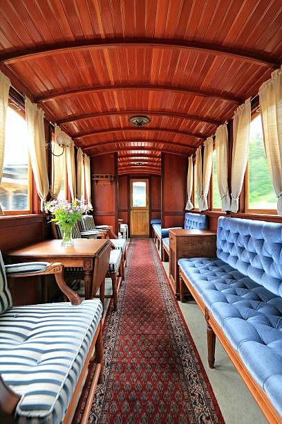 old train interior - järnvägsvagn tåg bildbanksfoton och bilder