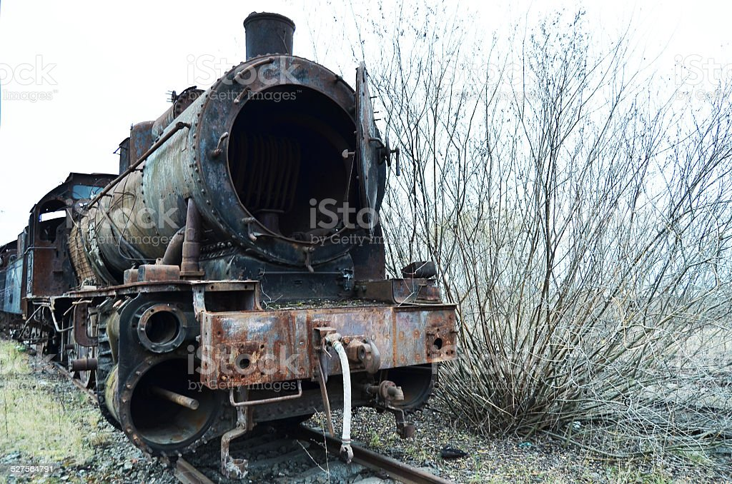 Old train of XIX century stock photo