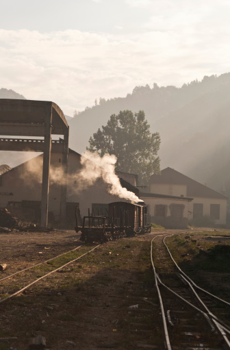 Morning old steam train called \