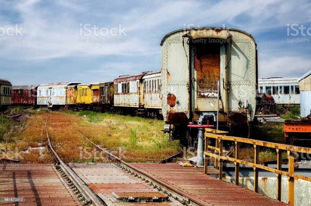 old train station deposit stock photo