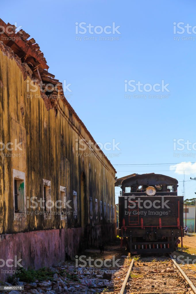 Old train station in Trinidad stock photo