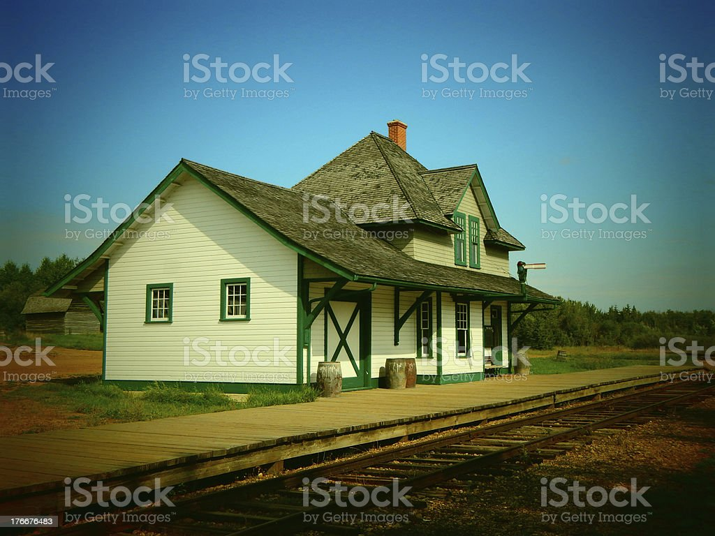Old Train Station Photo royalty-free stock photo