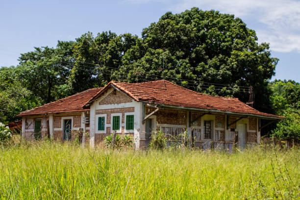 Old train statuo Manoel Brandão - Campo Grande - Mato Grosso do Sul, Brazil