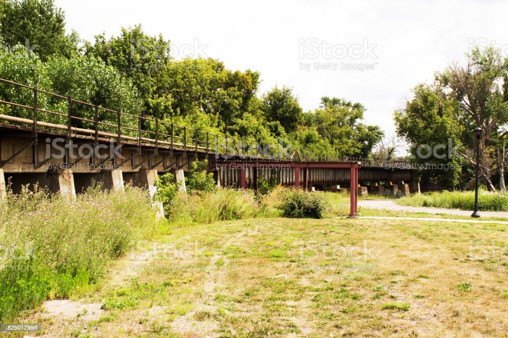 Old Train Tracks stock photo