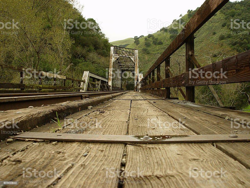 Old Train Trestle Bridge royalty-free stock photo
