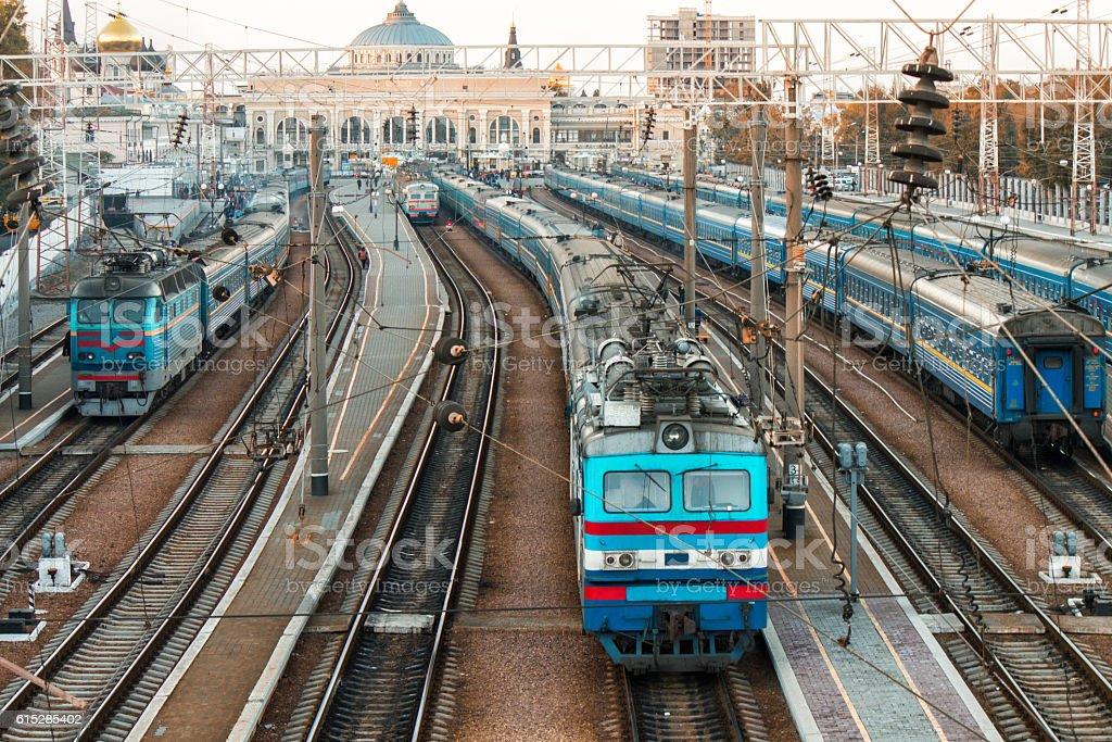 old trains on ukrainian railways stock photo